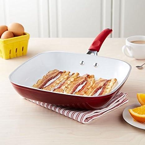 Amazon com: Tasty 11 Inch Titanium Ceramic Non-Stick Grill Pan
