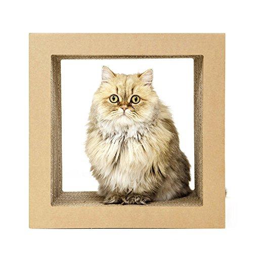 KATRIS O-Shape Modular Cat Scratcher Block | Multi-Functional Durable | Cat Furniture | Cat Tree Condo | Original Kraft