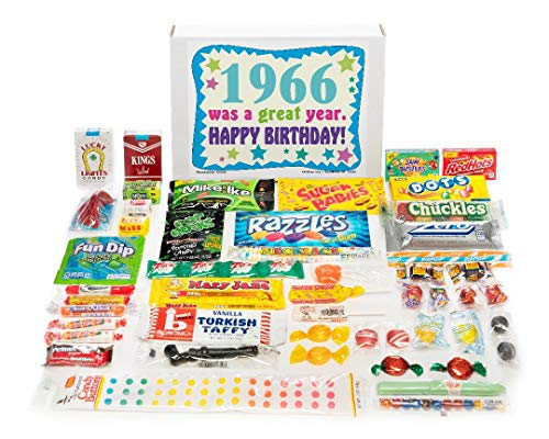 Woodstock Candy ~ 1966 53rd Birthday Gift Box Nostalgic Retro Candy Assortment from Childhood for 53 Year Old Man or Woman Born 1966