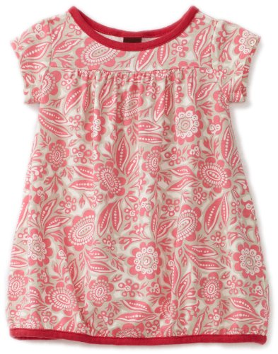Tea Collection Baby Girls' Botanic Garden Play Dress, Neon Pink, Small