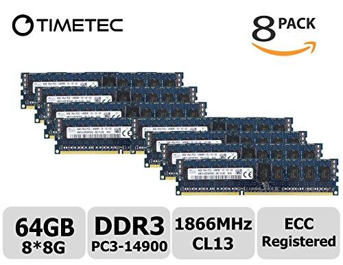 Timetec Hynix 64GB KIT (8x8GB) DDR3 1866MHz PC3-14900 Reg...