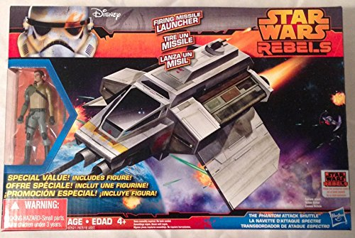 Star Wars Rebels Phantom Attack Shuttle with Bonus Figure Kanan Jarrus Exclusive Set ()