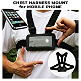 Designus Use Your Mobile Phone as Action Camera Body Chest Mount Harness Strap Mobile Phone Holder Used for Action Sports (Samsung, iPhone Etc)