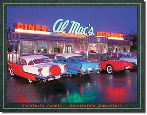 - AL MAC'S Diner Drive in HOT RODS Corvette Beach Surfboard 12.5