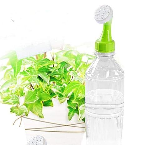Teabelle Botella Boquilla de riego Sprinkler Cabeza Planta Flores Agua Comedero Jardinería Herramienta 2pcs