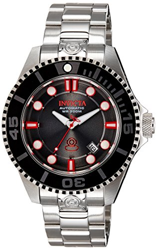 Invicta Men's 'Pro Diver' Automatic Stainless Steel Casual Watch, Color:Silver-Toned (Model: 19802)
