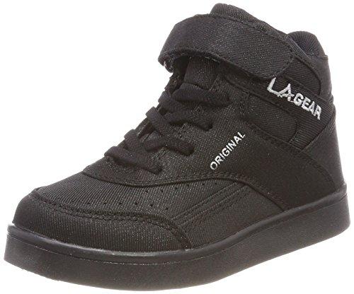 L.A. Gear Unisex-Kinder Flo Lights Basketballschuhe Schwarz (Black)