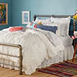 Ruched Chevron Comforter, White,Size : King
