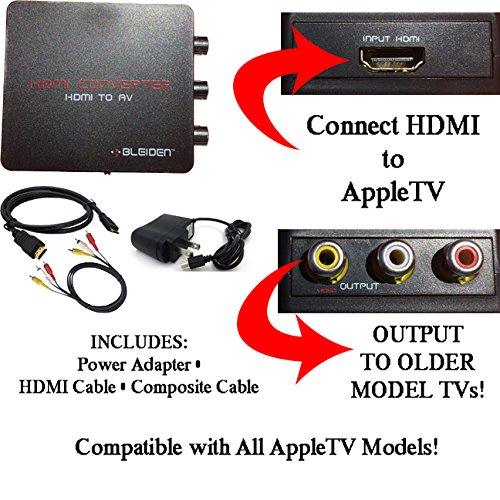 Amazon hdmi to 3rca composite av converter for appletv electronics publicscrutiny