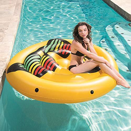 Gelb Neu Erwachsene Große Gläser Smiley Schwimmende Reihe Aufblasbare Spielzeuge, Schwimmende Bett Schwimmende Lounge-sessel, Kinder Wasser Spielzeug -188cm