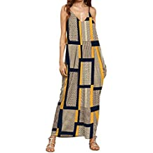 Hotkey® Clearance Women Dresses On Sale Printing Cocktail Party Evening Maxi Dress Beach Sundress for Summer