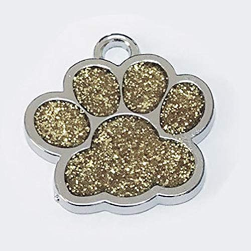 PEHTEN Drop Shipping Paw Shape Dog ID Tag Engraved Dog ID Name Tags Pet Collar Pendant Engrave Phone Number (Engrave It by Yourself) gd 2.7-5cm