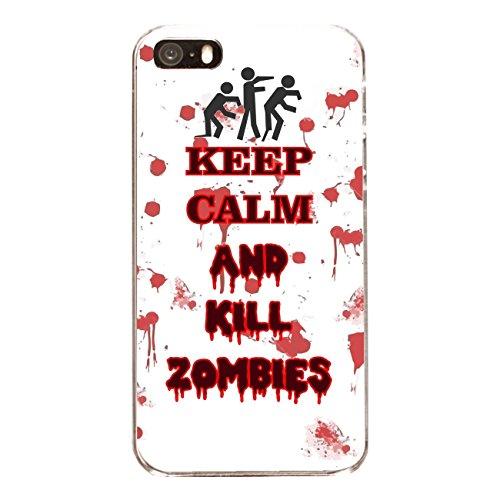 """Disagu Design Case Coque pour Apple iPhone 5s Housse etui coque pochette """"KEEP CALM AND KILL ZOMBIES"""""""
