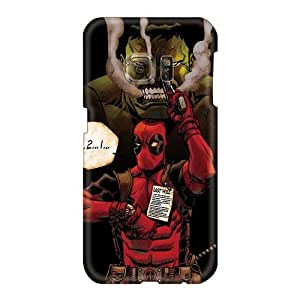 Anti-Scratch Hard Cell-phone Case For Samsung Galaxy S6 With Allow Personal Design Nice Hulk And Deadpool Image Customcases88