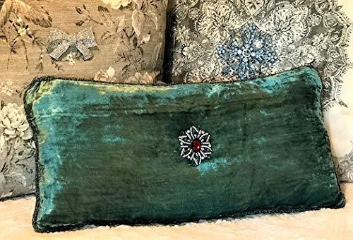 Evelyn Hope Collection - Almohada de Terciopelo Verde ...