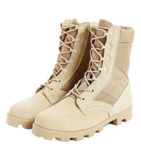 (ANS Military Style Jungle Boots Desert Tan Speedlace Jungle Boot Size 10R)