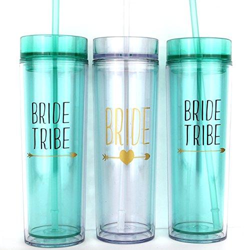 Bride Tribe Bridesmaids Tumbler Cups Gift -