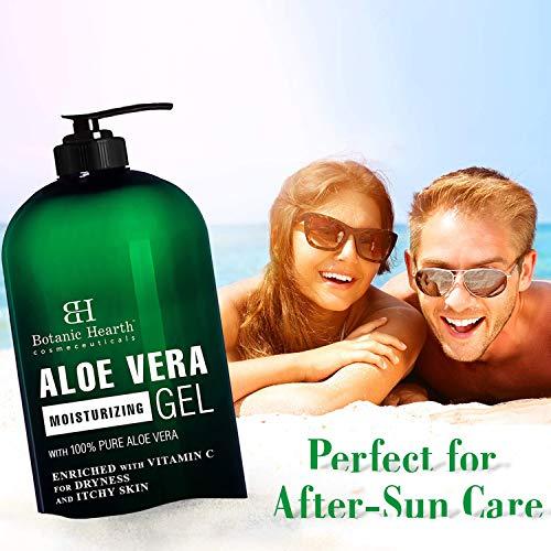 Botanic Hearth Aloe Vera Gel - From 100% Pure and Natural Cold Pressed Aloe Vera, 16 fl oz