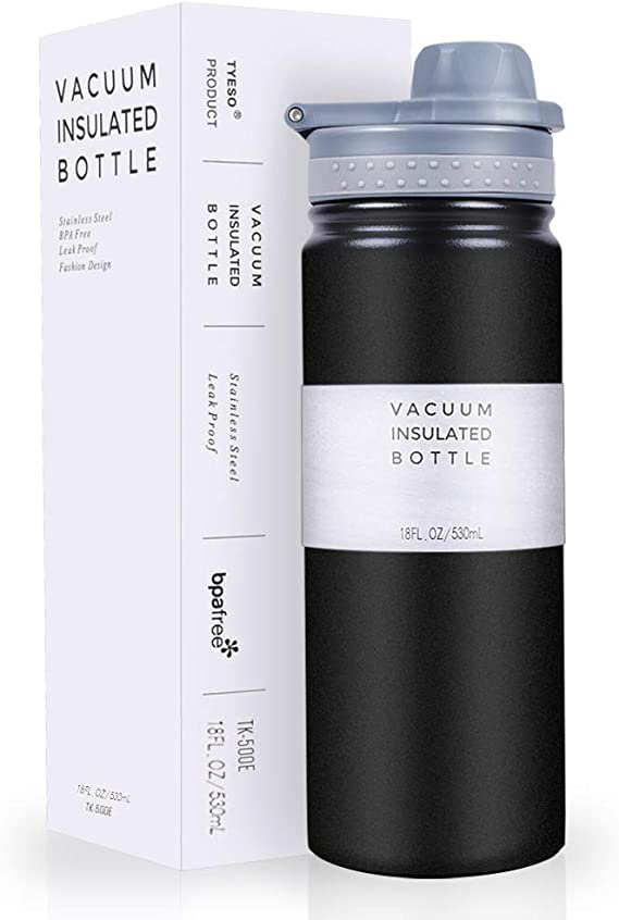 1PC Stainless Steel Double Wall Vacuum Insulated Bottle Water Flask Sport Bot BJ