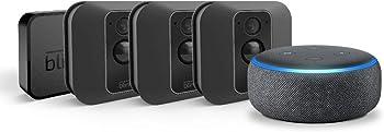 Blink XT2 3-Camera Indoor/Outdoor Surveillance System + Echo Dot (3rd Gen)