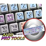 AVID PRO TOOLS GALAXY SERIES NEW KEYBOARD LABELS SHORTCUTS 12X12 SIZE by 4Keyboard