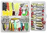 frog popper toy - Fishing Lure Lots 219Pcs Fishing Frogs Crankbait Kit Minnow Popper Crank Pencil VIB Lure Hard Spinner Baits Soft Plastic Lures Hooks Fishing Rod Alarm Bell with Tackle Box