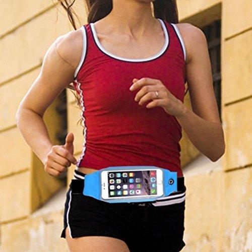 Sweatproof Reflective Sports Belt Waist Bag Case with Transparent Touch Screen Window for Straight Talk ZTE Solar - Straight Talk ZTE Unico - T-Mobile Alcatel OneTouch Fierce
