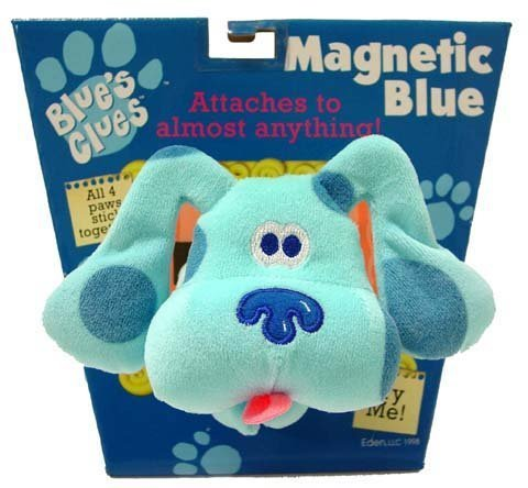 Blues Clues Magnetic Blue Eden Paws Stick Together Attaches to Most Anything