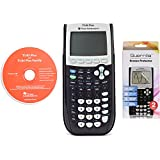 Texas Instruments TI 84 Plus Graphing Calculator With Guerrilla Military Grade Screen Protector Set (Certified Refurbished)