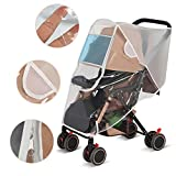 LEMESO Stroller Rain Cover Waterproof+Baby Mosquito Net Universal with Ventilation Design for Travel Outdoor-Protect Baby Friendly-Adjustable Use and Carry