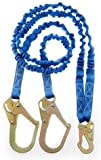 "Connex 6' Twin Leg ""Y"" Style 100% Tie Off Internal Shock Absorbing Lanyard w/ 2 Rebar Hooks / RL-30299(6)"