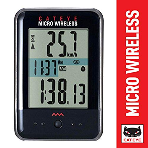 CAT EYE - Micro Wireless Bike Computer, Black
