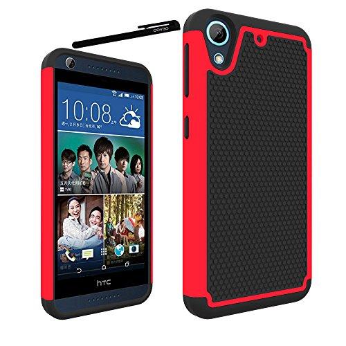 HTC Desire 626 / HTC Desire 626s Case Cover Accessories - Dual Layer Defender Protective Case Cover For HTC Desire 626 / HTC Desire 626s (Red)