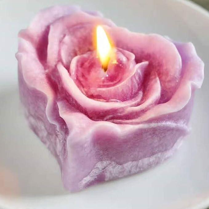 Candle Mold  Resin Mold  Soap Mold \u201cHeart triple heart love heart\u201d