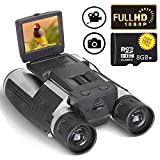 "Digital Camera Binoculars Telescope Camera 2"" LCD Display 12x32 5MP Video Photo Recorder with Free 8GB Micro SD Card for Watching Bird Football Game Concert"