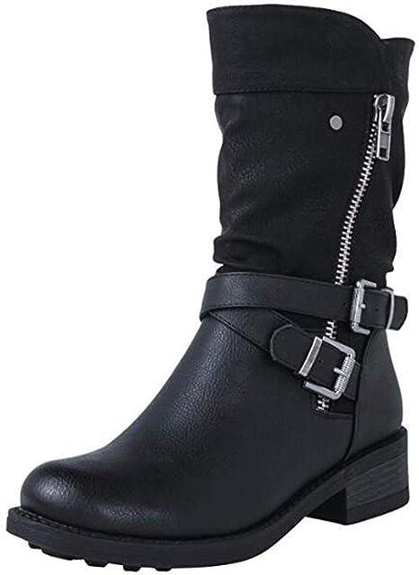 Luckycat Botas de Nieve para Mujer Zapatos Mujer Deportivos Running Botas De Combate Militares De La Hebilla Punky Retro del Estilo del Vintage Gótico De Steampunk De Las Mujeres: Amazon.es: Relojes
