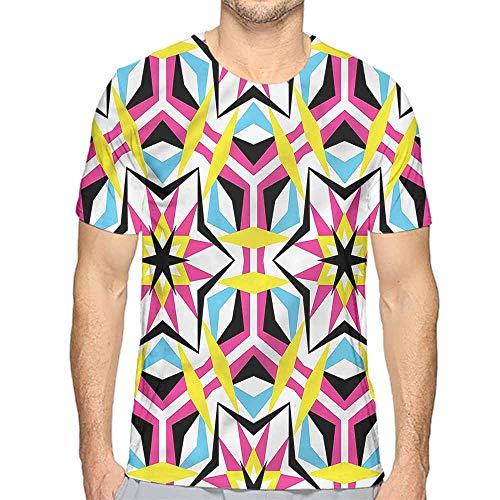 - Jinguizi Mens t Shirt Psychedelic,Disco Geometric Stars HD Print t Shirt M