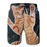 Men's Swim Trunks Cat In Space Quick Dry Board Shorts Bathing Suits Swimwear Volley Beach Trunks
