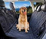 Original Pet Seat Cover, Dog Seat Cover for Cars Non Slip in Large Size - Black, WaterProof & Hammock Convertible