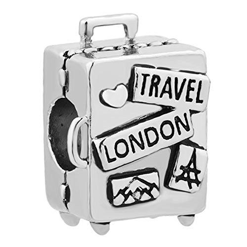 LilyJewelry Travel London Suitcase Charm Beads For Bracelets](Travel Bead For Pandora Bracelet)
