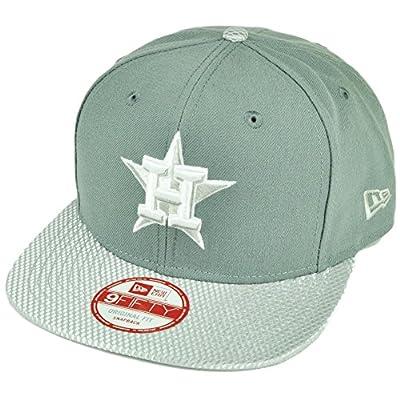 MLB New Era 9Fifty Flash Vize Houston Astros Snapback Hat Cap Flat Bill Gray