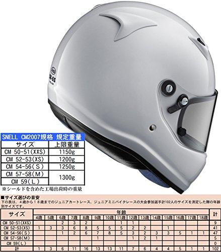 Amazon.es: Arai para Junior para niños Karting Motor casco ck-6s S 54 - 56 cm) pequeño