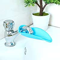 Facuet Extender Bath Spout Extender For Toddlers,Soft Rubber Material,Blue Co...