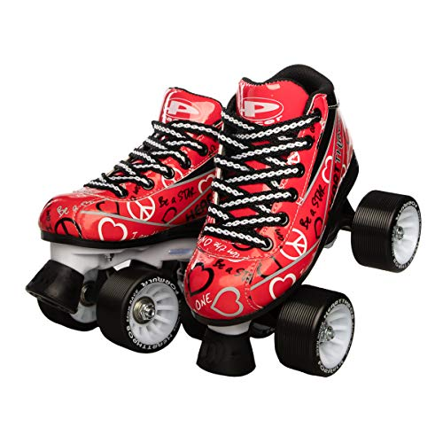- Pacer Heartthrob Roller Skate RED Size 2
