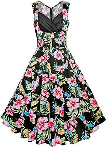 Vintage Flower Print Dress - 6