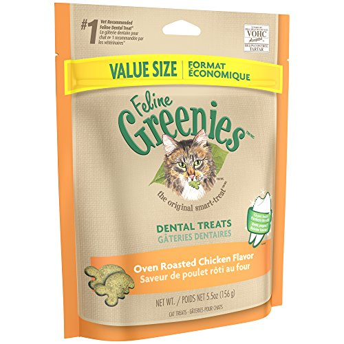 FELINE-GREENIES-Dental-Treats-for-Cats-Oven-Roasted-Chicken-Flavor-55-oz