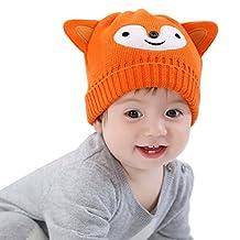Happy Cherry Baby Kids Autumn Winter Warm Cotton Knitted Cap Crochet Beanie