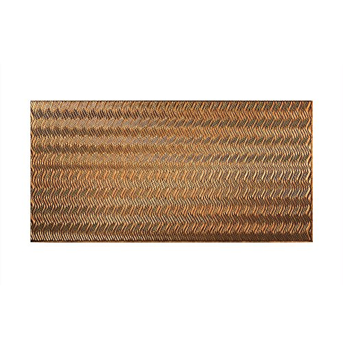 Fasade - Current Vertical Muted Gold Decorative Wall Panel - Fast and Easy Installation (4' X 8' Panel)