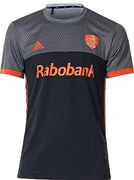 17464cc718e adidas Official KNHB Netherlands Replica Kids Junior Hockey World Cup Away  Jersey Top Tee Shirt (
