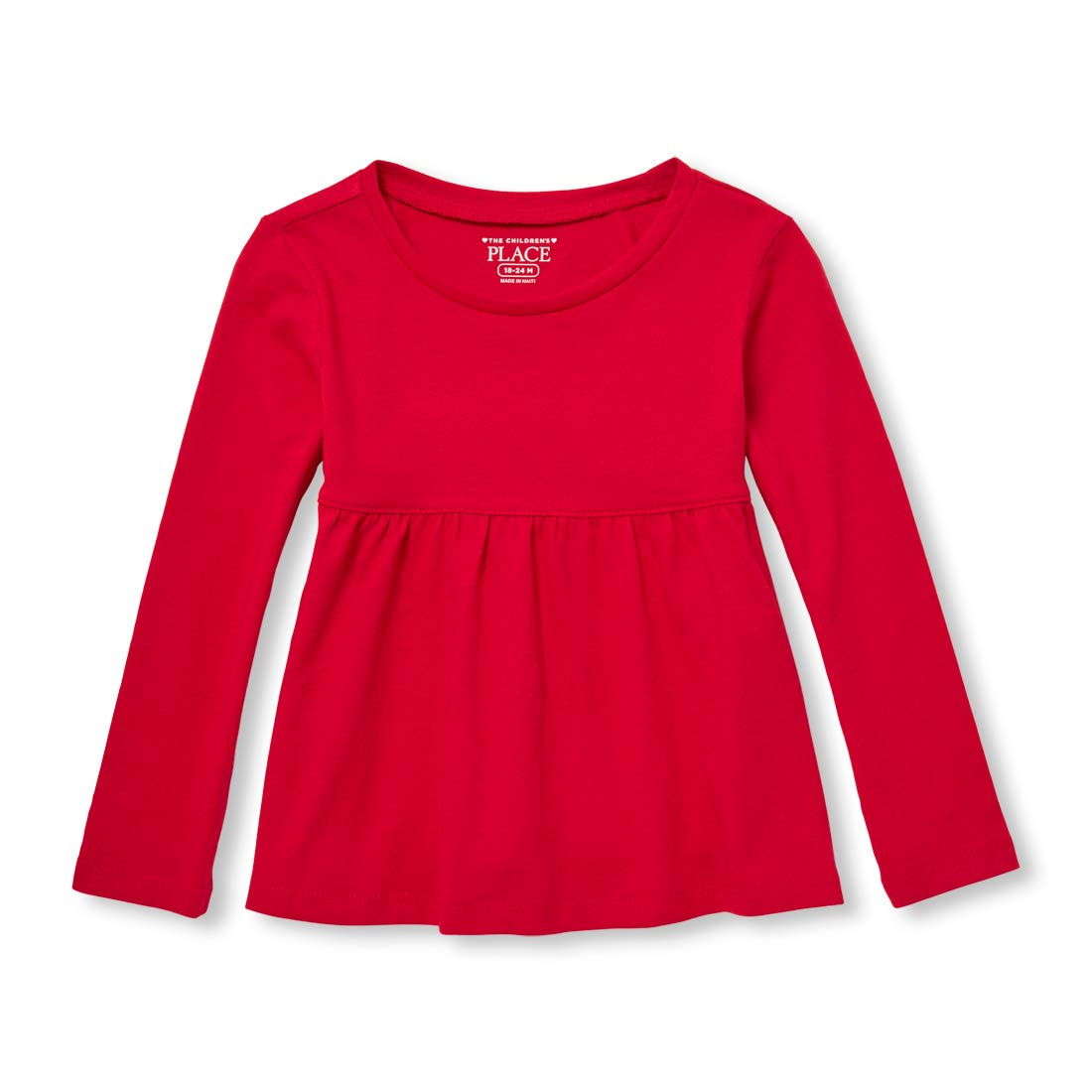The Children's Place Baby Girls Long Sleeve Solid Top The Children's Place 2103366